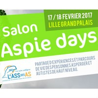 17 et 18 mars 2017 : Aspie Days, le 1er Salon International sur le syndrome d'Asperger